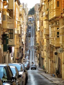 Streets of Valletta - Malta - by Anika Mikkelson - Miss Maps - www.MissMaps.com