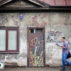 Teletubbies Streetside - Riga Latvia - by Anika Mikkelson - Miss Maps - www.MissMaps.com