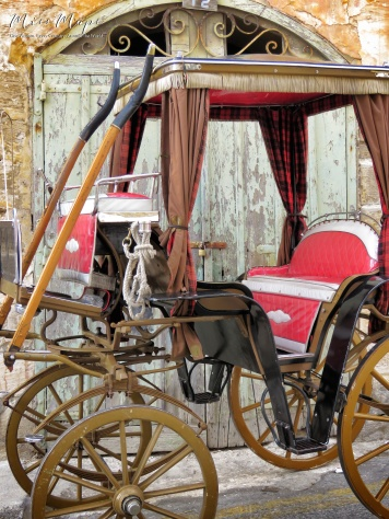 The Lone Horse Carriage - Malta - by Anika Mikkelson - Miss Maps - www.MissMaps.com