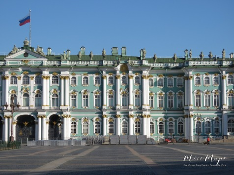 The Winter Palace in St Petersburg Russia -by Anika Mikkelson - Miss Maps - www.MissMaps.com