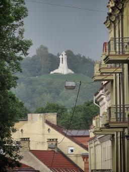 Three Crosses of Villnius Lithuania - by Anika Mikkelson - Miss Maps - www.MissMaps.com