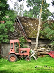 Tractors and Log Homes - Northern Estonia - by Anika Mikkelson - Miss Maps - www.MissMaps.com