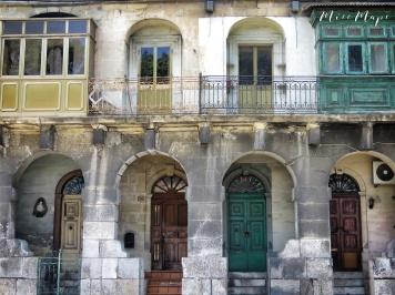 Tri-Color Doors - Malta - by Anika Mikkelson - Miss Maps - www.MissMaps.com