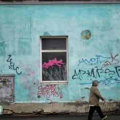 Turquoise Walls - Riga Latvia - by Anika Mikkelson - Miss Maps - www.MissMaps.com