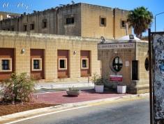Universita Ta Malta Entrance - Malta - by Anika Mikkelson - Miss Maps - www.MissMaps.com