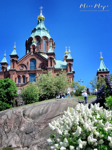 Uspenski Cathedral - Helsinki Finland - by Anika Mikkelson - Miss Maps - www.MissMaps.com