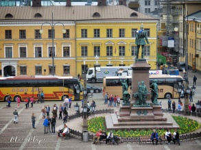 View from Helsinki Cathedral - Helsinki Finland - by Anika Mikkelson - Miss Maps - www.MissMaps.com