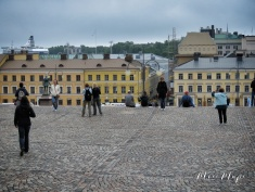 View From Helsinki Cathedral Steps - Helsinki Finland - by Anika Mikkelson - Miss Maps - www.MissMaps.com