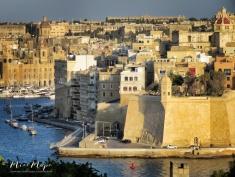 Valletta at Dusk - Malta - by Anika Mikkelson - Miss Maps - www.MissMaps.com