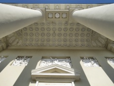 Vilnius Cathedral's Decorative Front Entryway - Villnius Lithuania - by Anika Mikkelson - Miss Maps - www.MissMaps.com