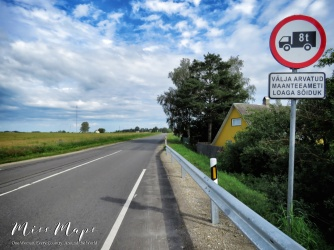 Welcome to a one road town - Northern Estonia - by Anika Mikkelson - Miss Maps - www.MissMaps.com