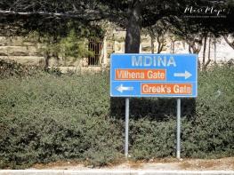 Welcome to Mdina Sign - Malta - by Anika Mikkelson - Miss Maps - www.MissMaps.com