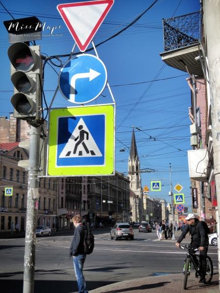 Which Way - St Petersburg Russia - by Anika Mikkelson - Miss Maps - www.MissMaps.com