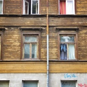 Windows of Riga Latvia 1 - by Anika Mikkelson - Miss Maps - www.MissMaps.com