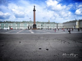 Winter Palace and Plaza - St Petersburg Russia - by Anika Mikkelson - Miss Maps - www.MissMaps.com