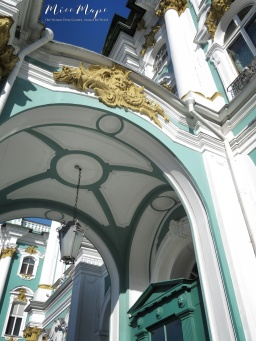 Winter Palace Archway - St Petersburg Russia - by Anika Mikkelson - Miss Maps - www.MissMaps.com