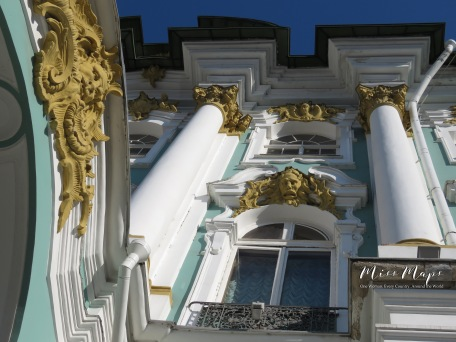 Winter Palace from Below - St Petersburg Russia -by Anika Mikkelson - Miss Maps - www.MissMaps.com