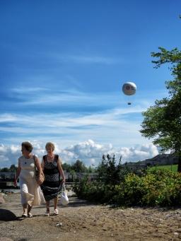 Women on a Walk at the Baltic Sea and Tallin's Balloon - Tallin Estonia - Tallin Estonia - by Anika Mikkelson - Miss Maps - www.MissMaps.com