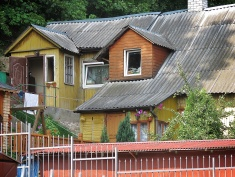 Wooden Homes and Tin Roofs - Villnius Lithuania - by Anika Mikkelson - Miss Maps - www.MissMaps.com
