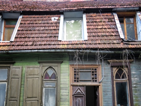 Wooden Homes and Wooden Branches - Villnius Lithuania - by Anika Mikkelson - Miss Maps - www.MissMaps.com