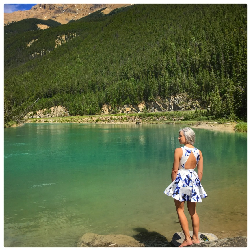 Kyla Wanderlust in Banff during a cross-Canada road trip - MissMaps.com Featured Female Traveler