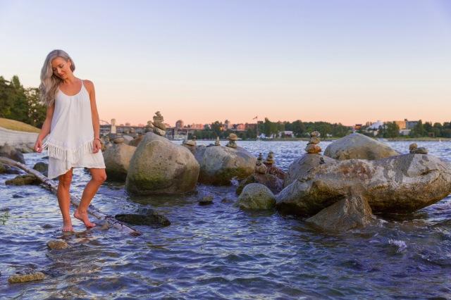 Kyla Wanderlust near her new home in Vancouver Canada - MissMaps.com Featured Female Traveler