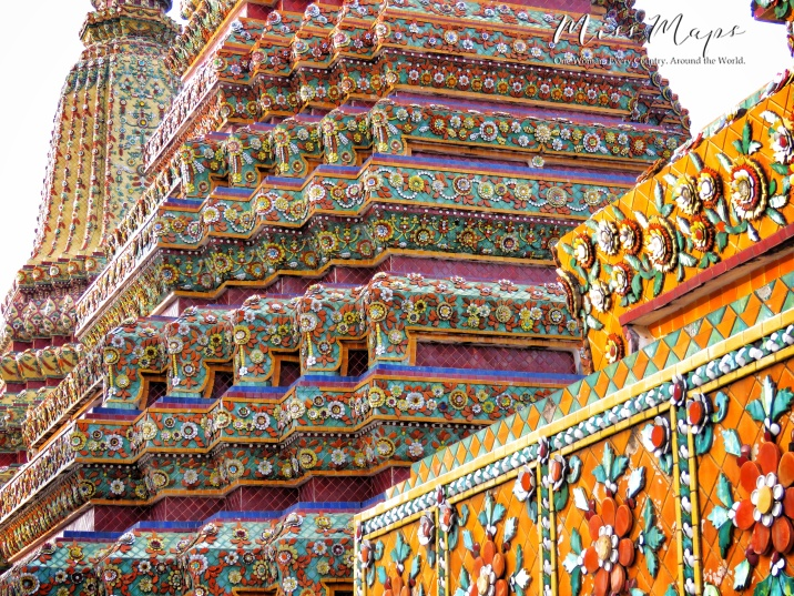 Close Up of Wat Pho - Bangkok Thailand - by Anika Mikkelson - Miss Maps - www.MissMaps.com