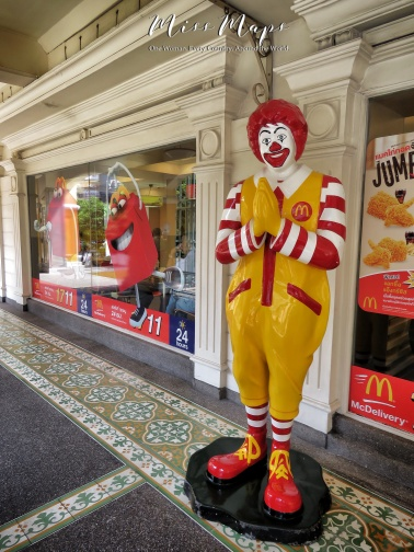 Even Ronald McDonalds Knows his Manners - McDonalds - Bangkok Thailand - by Anika Mikkelson - Miss Maps - www.MissMaps.com