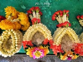 Freshly Made Flower Wreaths - Bangkok Thailand - by Anika Mikkelson - Miss Maps - www.MissMaps.com