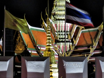 Grand Palace and Thai Flag - Bangkok Thailand - by Anika Mikkelson - Miss Maps - www.MissMaps.com