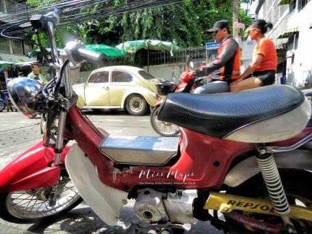 Moped Rides - Bangkok Thailand - by Anika Mikkelson - Miss Maps - www.MissMaps.com