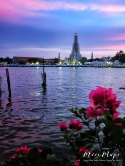 Wat Arun - Bangkok Thailand - by Anika Mikkelson - Miss Maps - www.MissMaps.com
