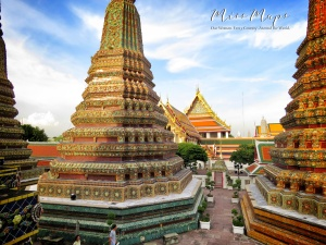 Wat Pho From Above - Bangkok Thailand - by Anika Mikkelson - Miss Maps - www.MissMaps.com