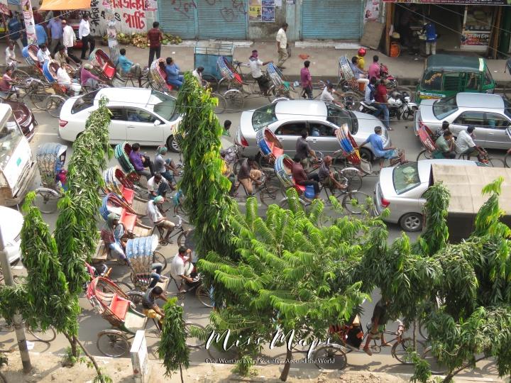 Bustling Streets of Dhaka Bangladesh - by Anika Mikkelson - Miss Maps - www.MissMaps.com