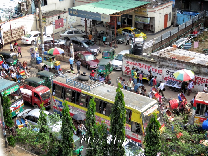 Dhaka Streets from Above - Dhaka Bangladesh - by Anika Mikkelson - Miss Maps - www.MissMaps.com