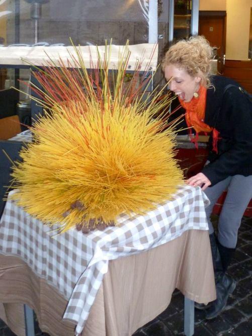 Spaghetti in Italy - by Anika Mikkelson - Miss Maps - www.MissMaps.com
