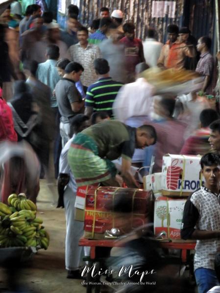Vendors outside the Rocket Steamers - Dhaka to Sundarbans Bangladesh - by Anika Mikkelson - Miss Maps - www.MissMaps.com