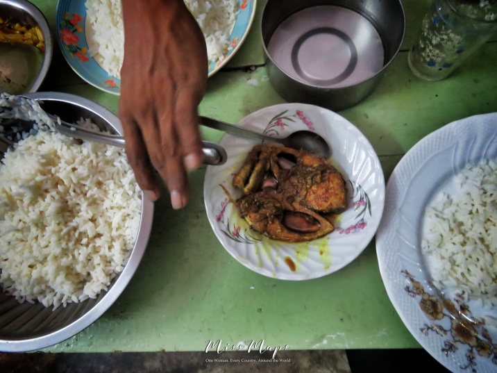 Homemade Feast for Two - Irish and Rice - Mongla Bangladesh - by Anika Mikkelson - Miss Maps - www.MissMaps.com