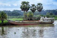 Abandoned boat on the shore of Mongla Bangladesh - by Anika Mikkelson - Miss Maps - www.MissMaps.com