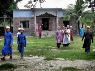 Boys Outside the Madrasa - Mongla Bangladesh - by Anika Mikkelson - Miss Maps - www.MissMaps.com