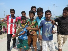 Day 2 : Boys Preparing for a Game of Cricket - Mongla Bangladesh - by Anika Mikkelson - Miss Maps - www.MissMaps.com