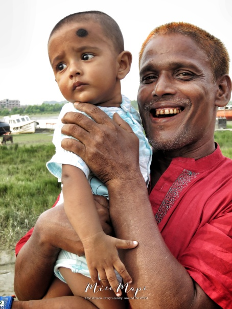 Father and Son - Mongla Bangladesh - by Anika Mikkelson - Miss Maps - www.MissMaps.com