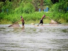 Men Fishing in the River - Mongla Bangladesh - by Anika Mikkelson - Miss Maps - www.MissMaps.com