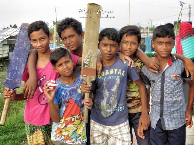 Boys Preparing for a Game of Cricket - Mongla Bangladesh - by Anika Mikkelson - Miss Maps - www.MissMaps.com