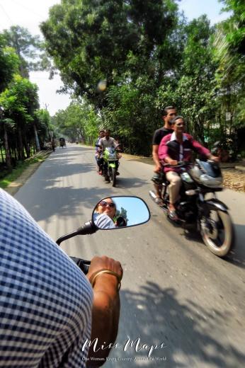 Motorbike Ride to Mongla Bangladesh and Mirrored Reflections - by Anika Mikkelson - Miss Maps - www.MissMaps.com