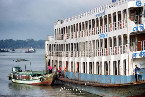 Transit from the Main Boat to Land - Dhaka to Sundarbans Bangladesh - by Anika Mikkelson - Miss Maps - www.MissMaps.com