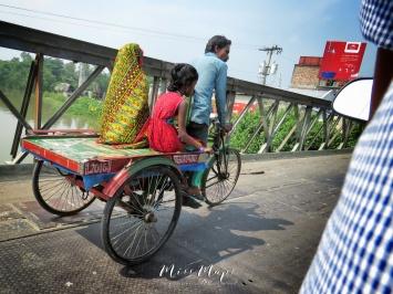 Trishaw Ride through Mongla Bangladesh - by Anika Mikkelson - Miss Maps - www.MissMaps.com