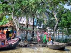 Washing in the River - Sundarbans Near Mongla Bangladesh - by Anika Mikkelson - Miss Maps - www.MissMaps.com