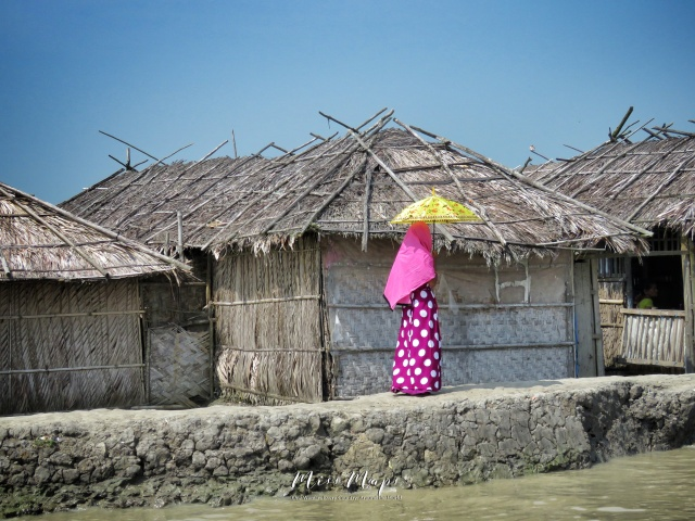 Woman Walking - Sundarbans Near Mongla Bangladesh - by Anika Mikkelson - Miss Maps - www.MissMaps.com
