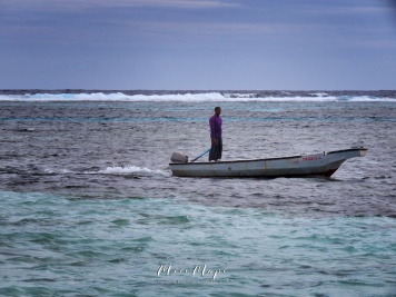 Boating to Shore - Indian Ocean - Maldives - by Anika Mikkelson - Miss Maps - www.MissMaps.com